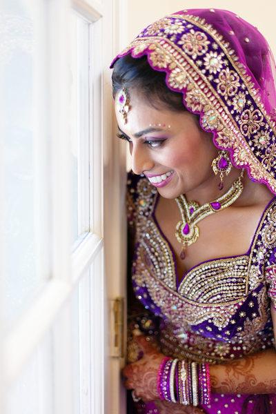 Indian Bride in Magenta