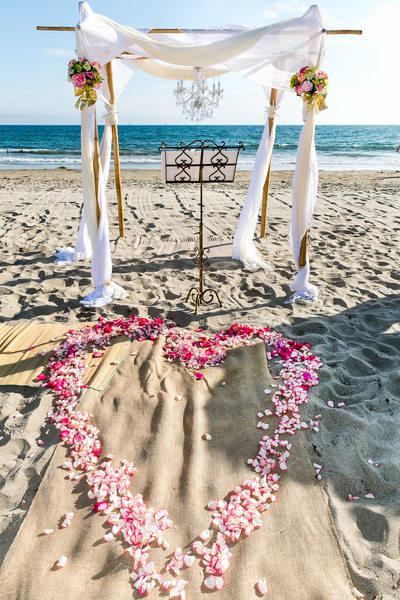 Santa Barbara beach wedding ceremony