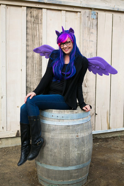 Sherri J purple unicorn my little pony costume