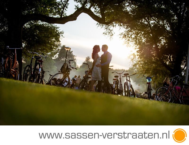 Trouwfoto Vondelpark Amsterdam