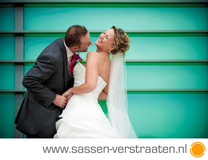 Bruidsfotografie met kleur