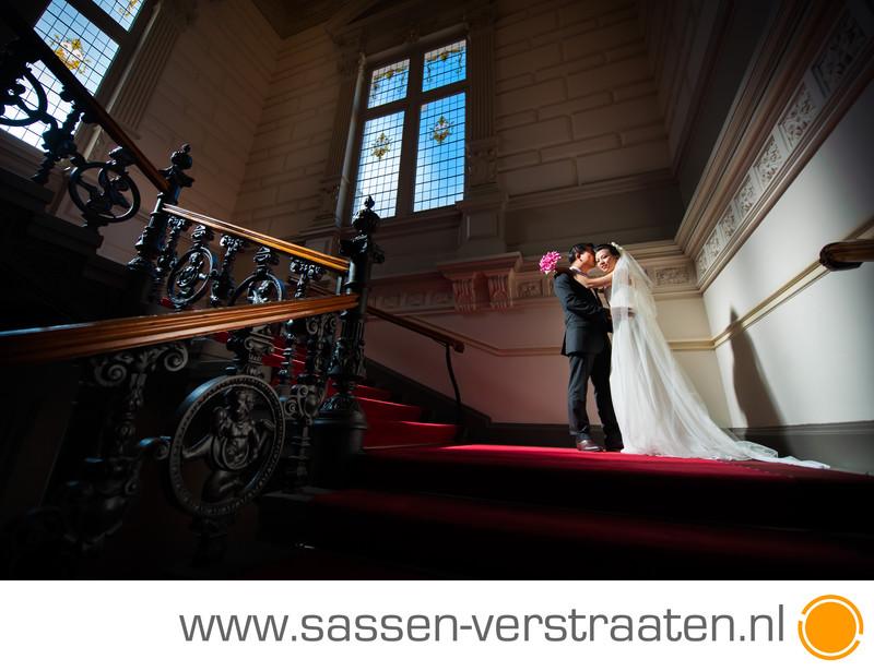 Bruidsreportage in het Concertgebouw in Amsterdam