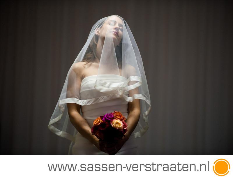 Moment tussendoor met bruid