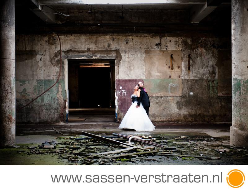 Oude fabriek voor je huwelijksfoto's