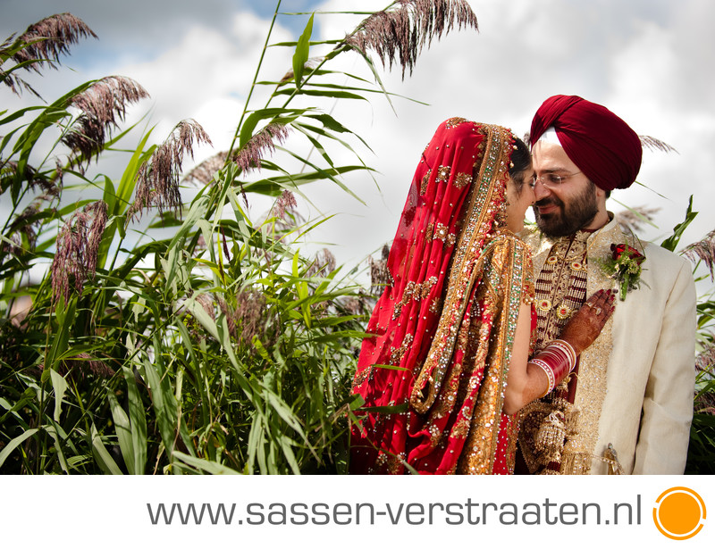 Punjabi huwelijk bruidsfotografie