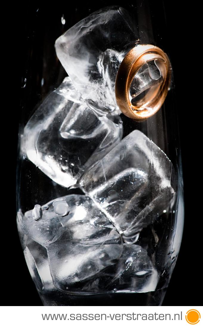 IJskoude foto's van de ringen bruidsfotografie