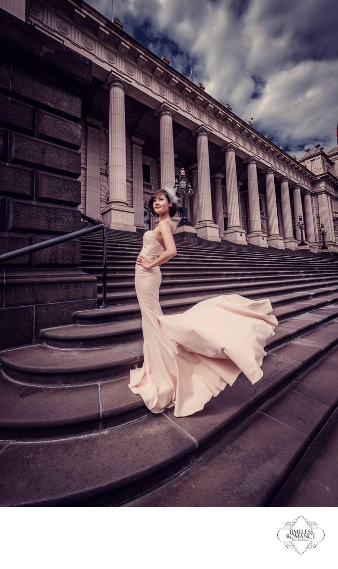 Portrait Of A Bride By The Parliament House