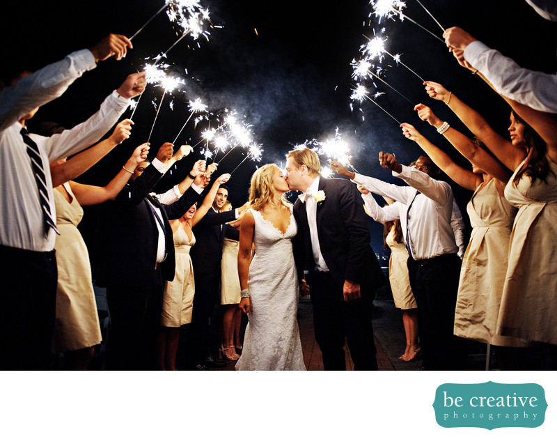 tappan hill mansion ny wedding photo sparklers