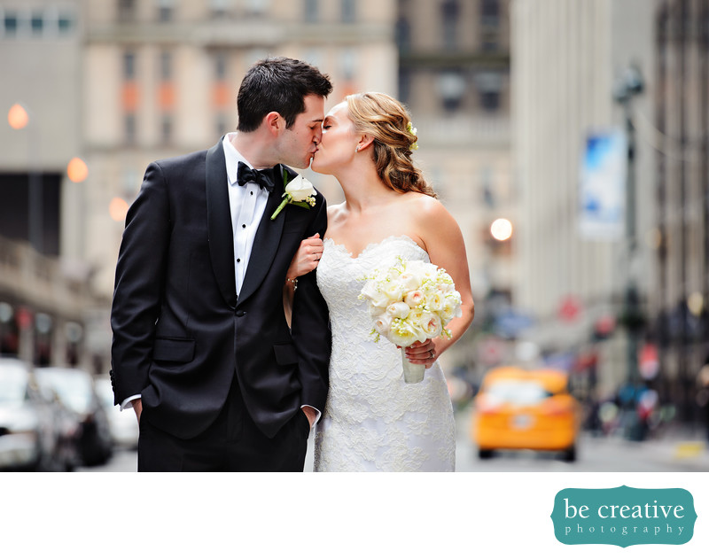 yale club of new york city wedding photo taxi cab