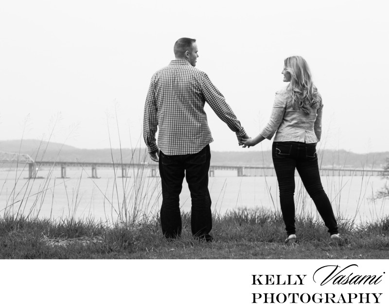 Engagement Session overlooking Tappan Zee Bridge