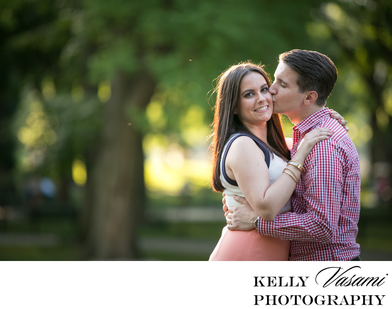 Sunlight in Central Park Engagement Session NYC