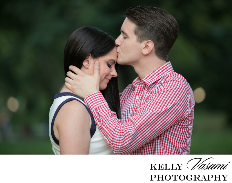Forehead Kiss | Engagement Session