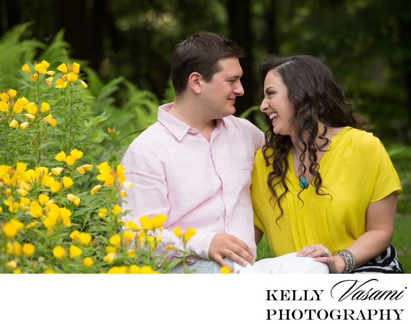 Yellow Engagement Session | Yellow Flowers Westchester