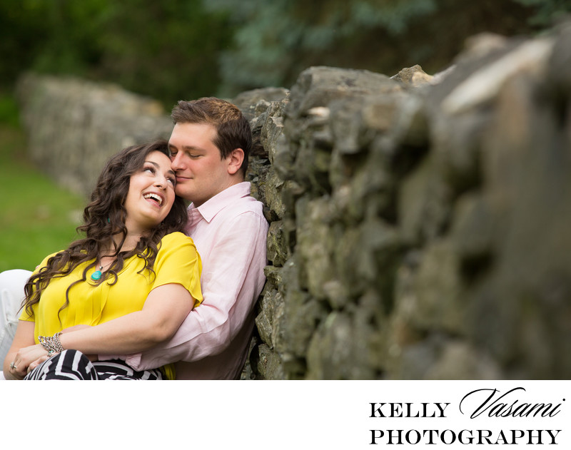 Stone Wall Engagement Session | Scarsdale NY
