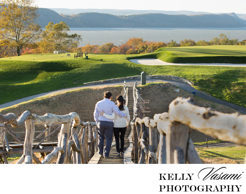 Engagement Session Locations | View of the Hudson River