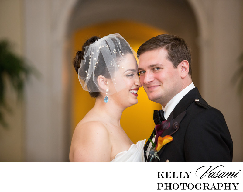Westchester Country Club | Elegant Bride & Groom