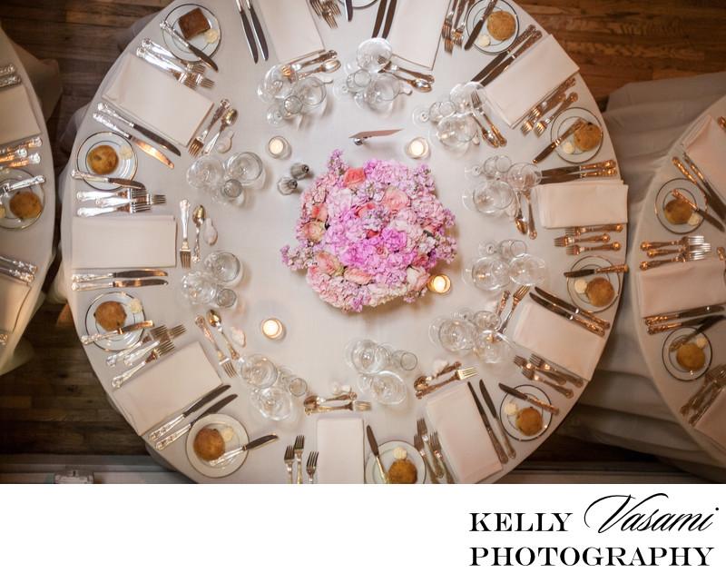 table setting westchester wedding creative angle