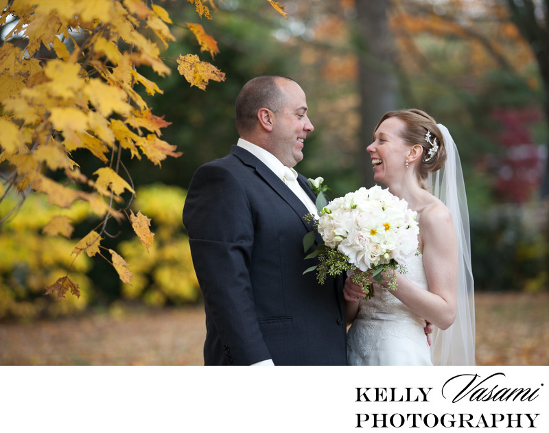 Fall Wedding Photos | White Plains | Bride & Groom