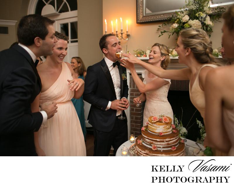 Feeding the Wedding Cake | Highlands Country Club