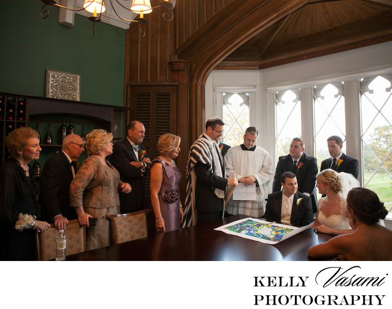 Signing Ketubah | Westchester NY Wedding Photography