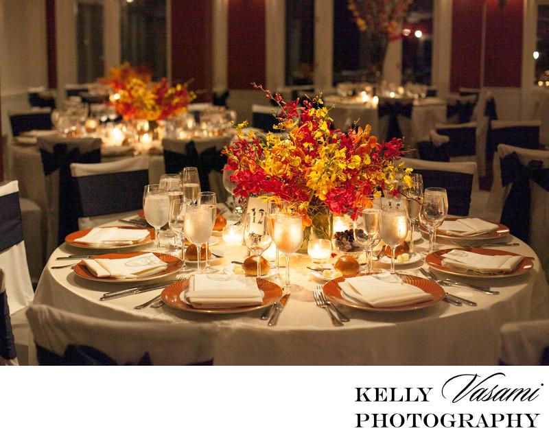 centerpiece whitby castle westchester wedding flowers