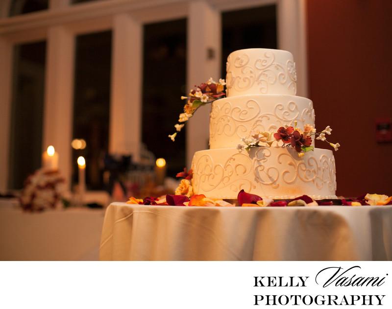 Fall themed wedding cake | Westchester NY