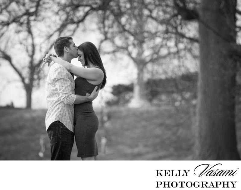 Black and White Engagement Session   Rockwood Hall