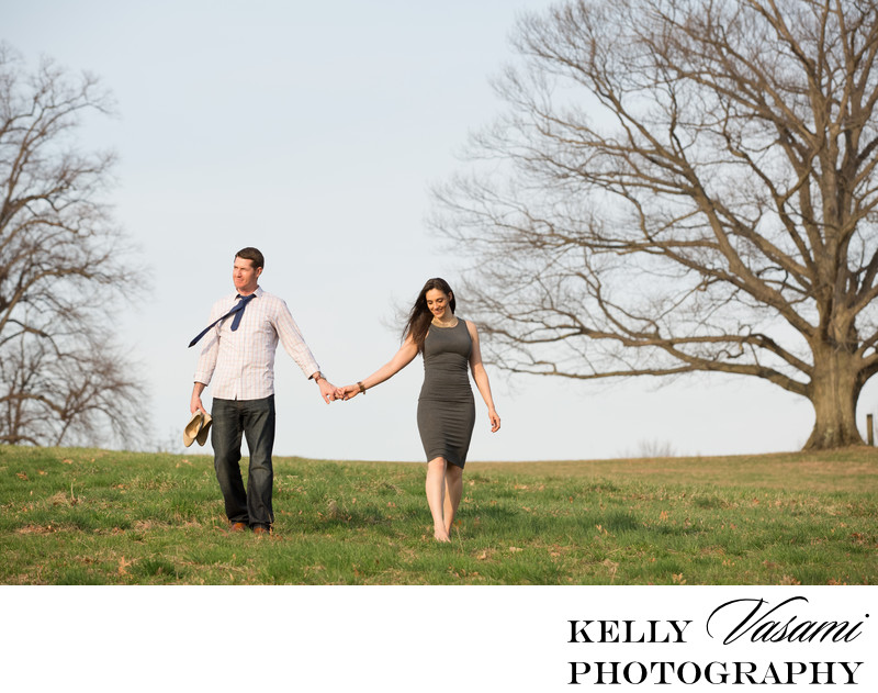 Engagement Session on a Hilltop | Westchester NY