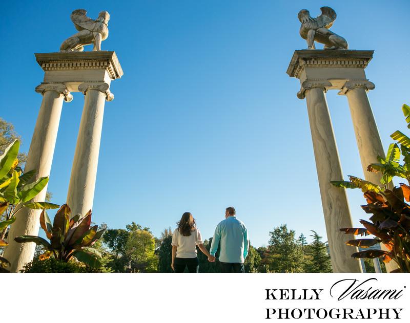 Untermeyer Gardens Statue   Engagement Session
