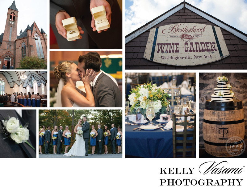Blue Fall Wedding Brotherhood Winery Washingtonville NY