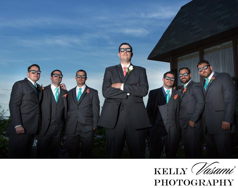 groom groomsmen photos mamaroneck beach yacht club