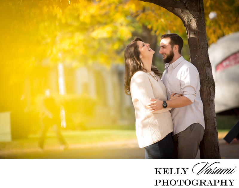 Autumn Engagement Session in Connecticut