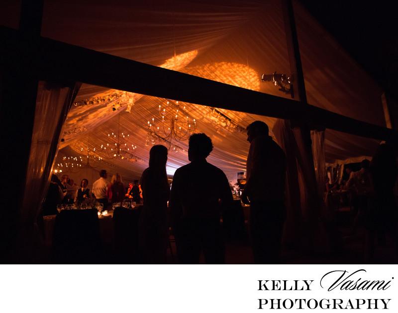 sleepy hollow country club tented wedding reception