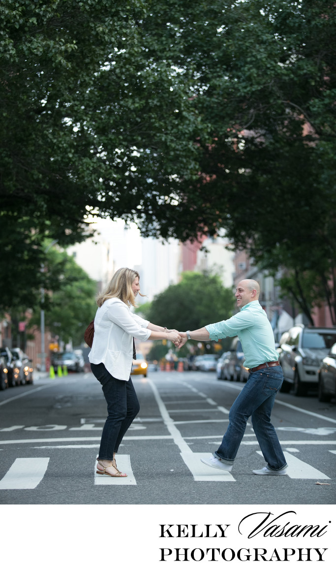 New York City Engagement Session | Crossing the Street