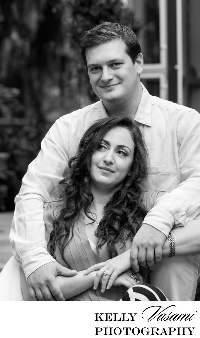 Black and White Engagement Session in Westchester
