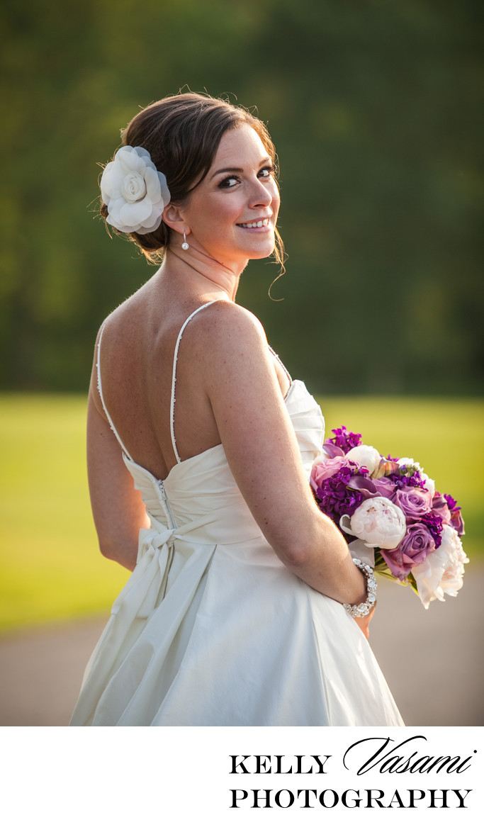 smiling westchester beautiful bride highlands