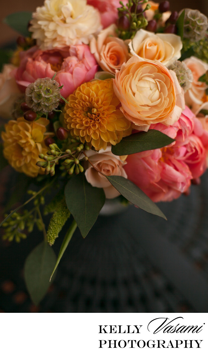 wedding florist westchester orange flowers ranunculus