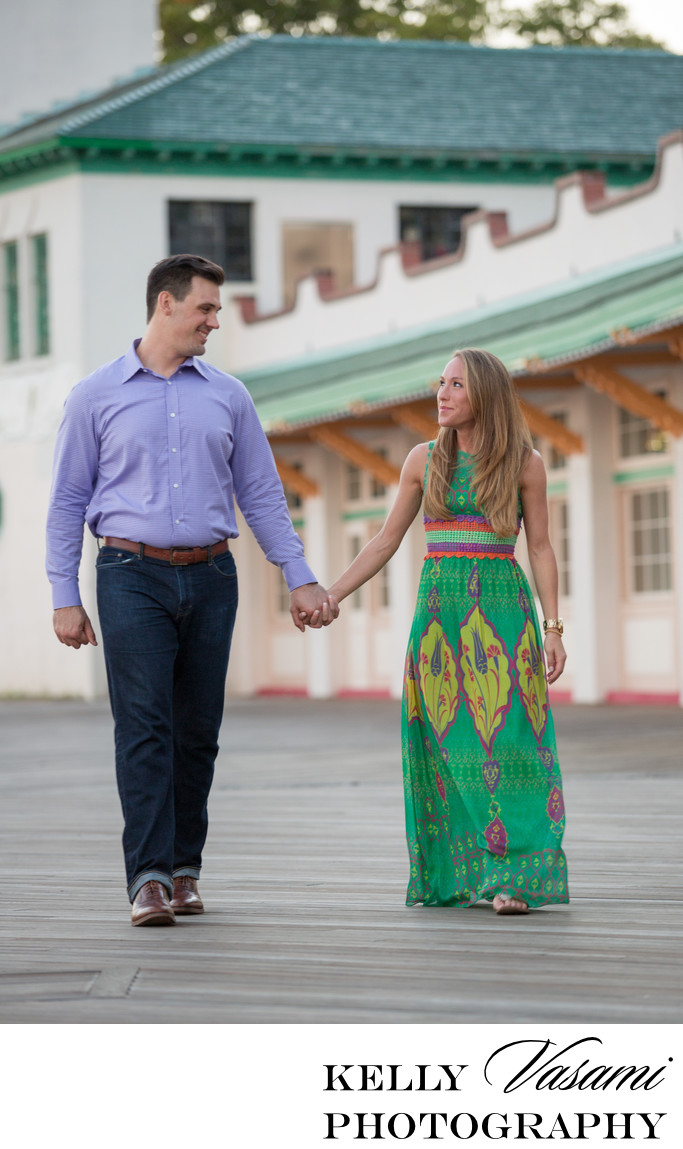 Rye Playland Boardwalk Engagement Session
