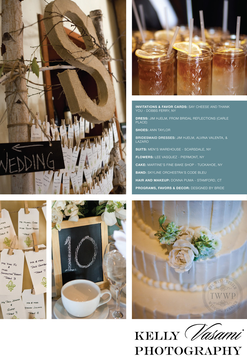 Details from a Real Wedding at Harvest on Hudson