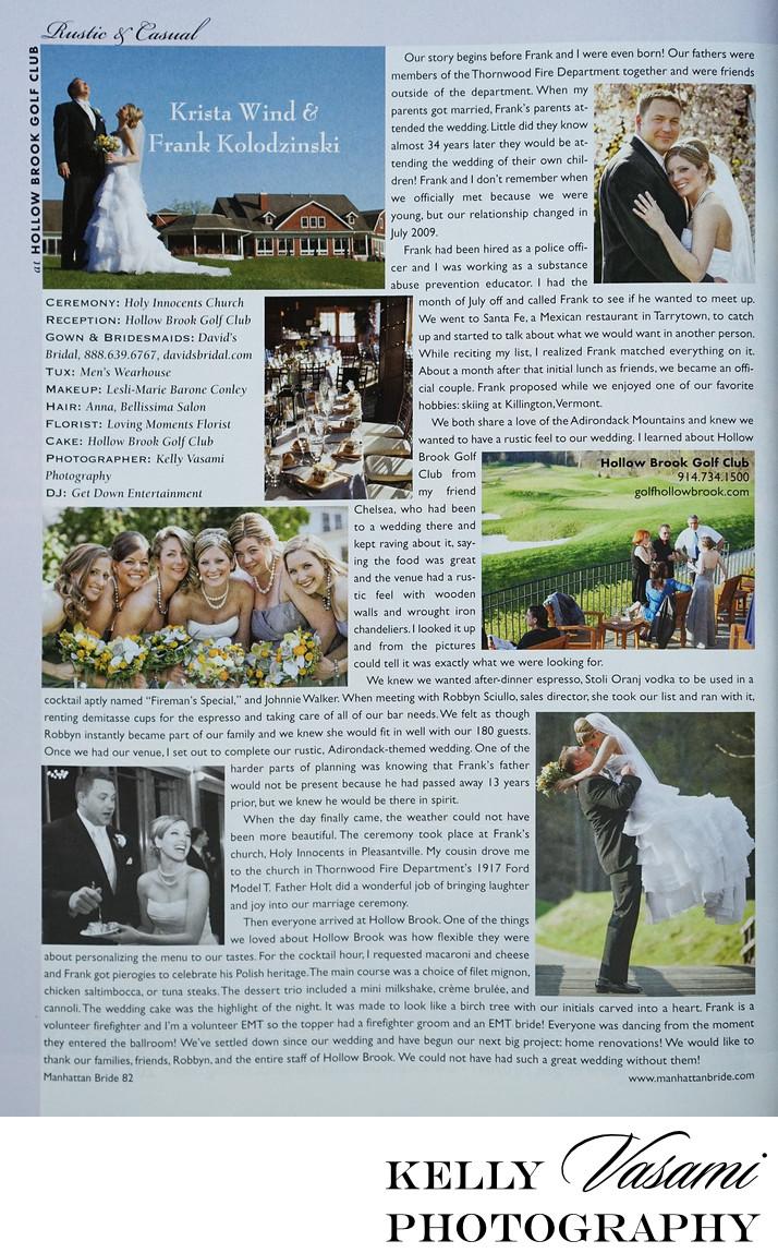Real Wedding | Hollow Brook Golf Club | Manhattan Bride