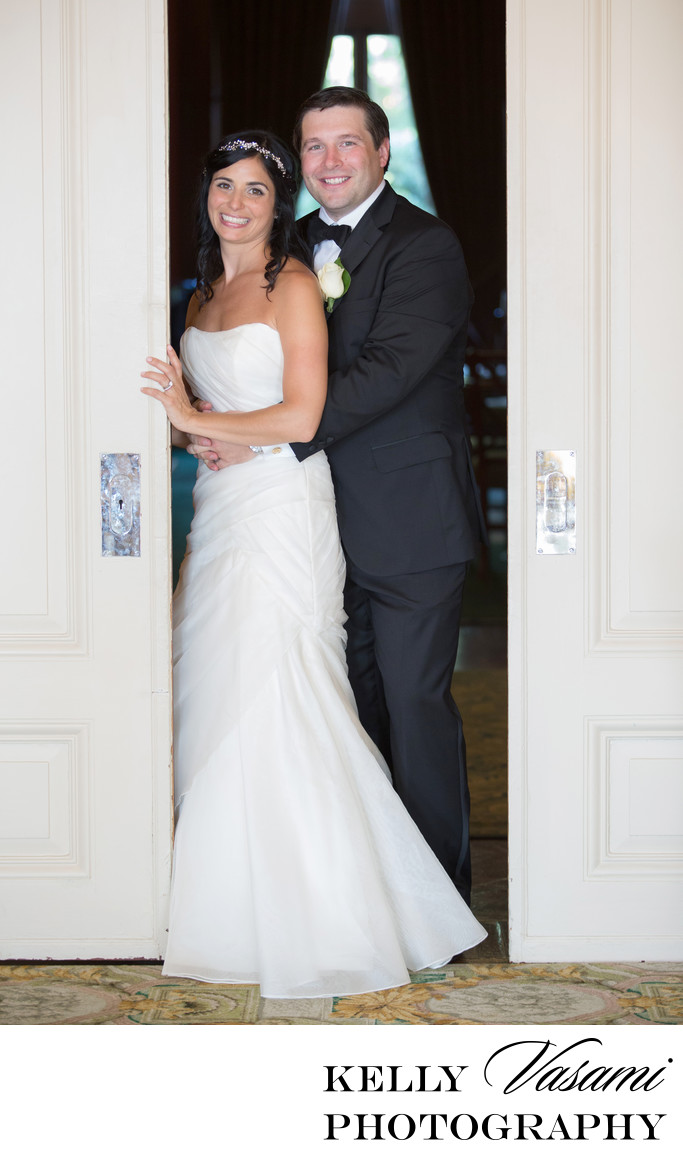 Bride and Groom Portrait at Sleepy Hollow Country Club