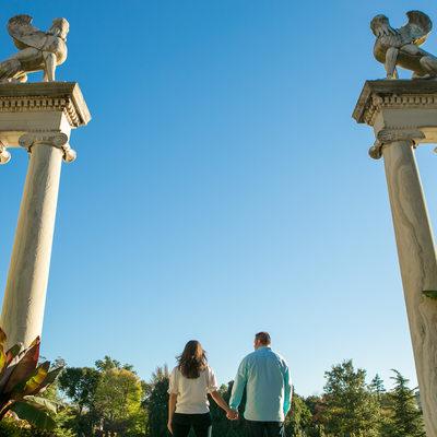 Untermeyer Gardens Statue | Engagement Session