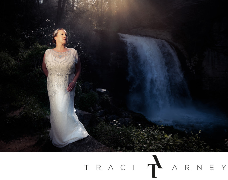 Pisgah National Forest Waterfall Bridal Session, Asheville