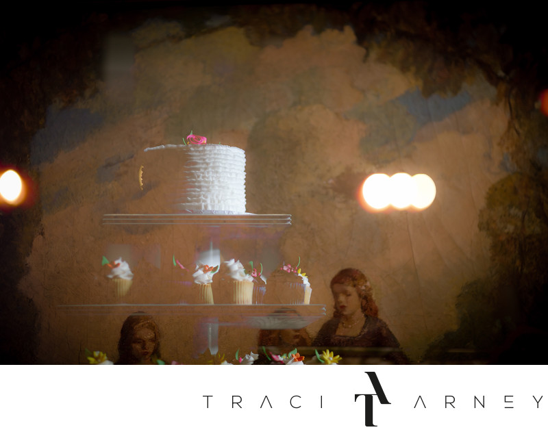 Wedding Cake Double Exposure Detail Shot, Graylyn, NC