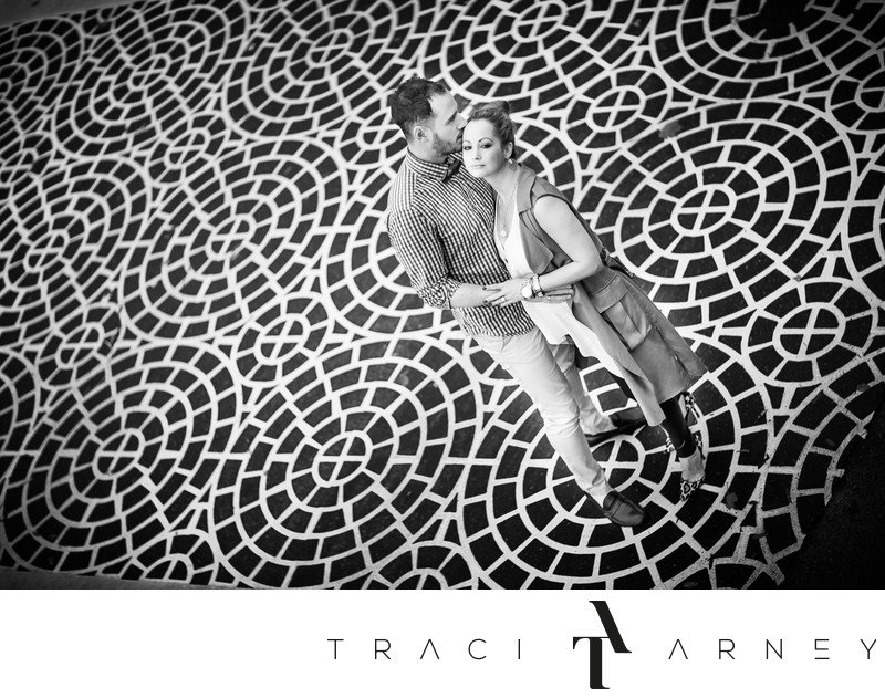 Black and White Engagement Session, Charlotte, NC