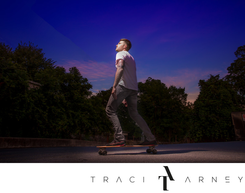 Skateboard Engagement Session, Mooresville, NC
