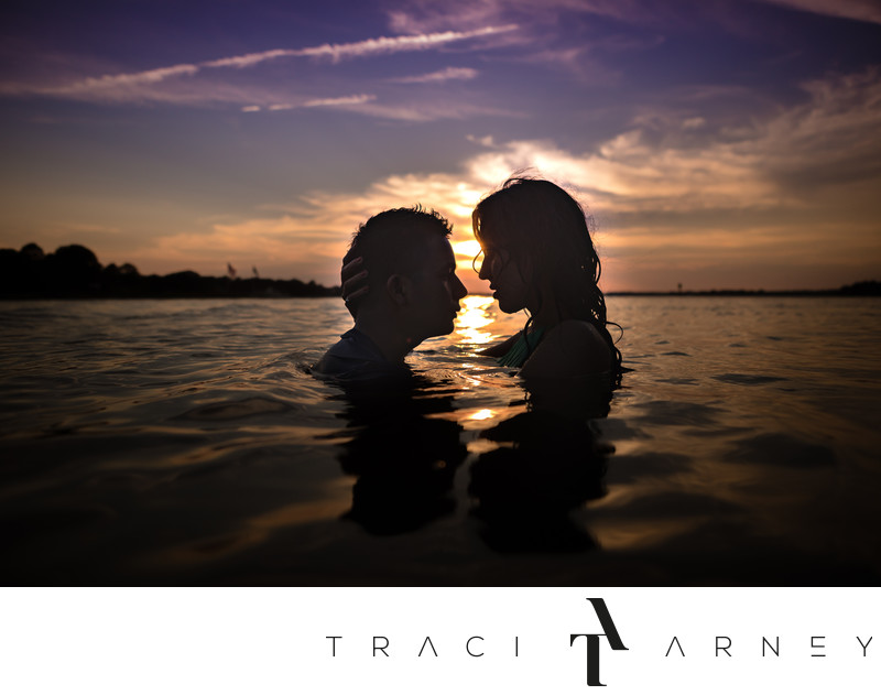 Romantic Indian Engagement Session, Narrows Beach, VA