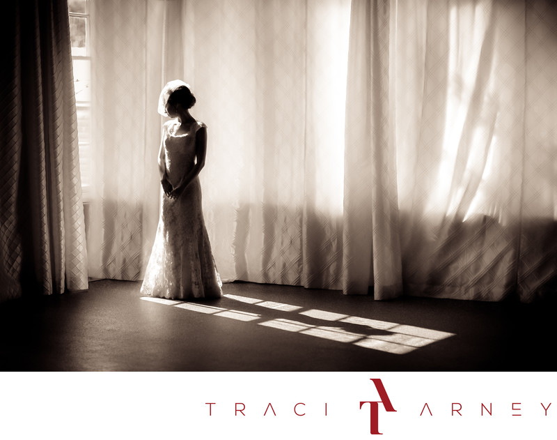 Bridal Portrait in The Venue, Downtown Asheville NC
