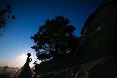 Pilot Mountain State Park Bridal Session Pinnacle NC