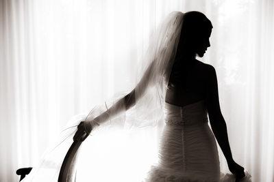Bridal Session Silhouette, Proximity Hotel, Greensboro, NC